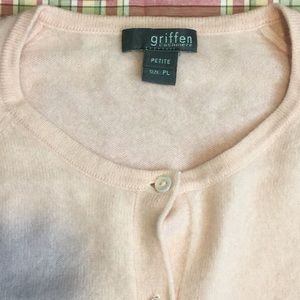 Griffin Pure Cashmere cardigan powder pink